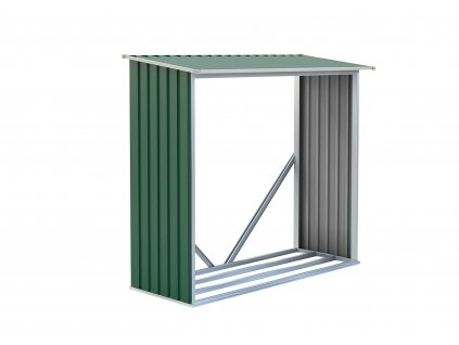 Přístřešek na dřevo G21 WOH 136 - 182 x 75 cm, zelený