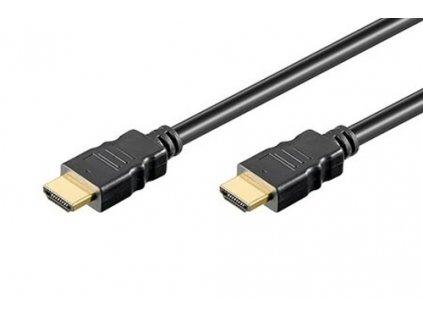Kabel propojovací HDMI 1.4 HDMI (M) - HDMI (M), 1,5m, zlacené konektory