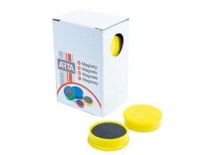 Sada ARTA magnetů průměr 25mm, žluté, 10ks