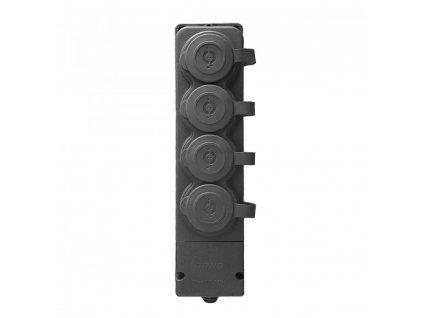 ORNO Odolná gumová rozbočka, 4x zásuvka, IP44