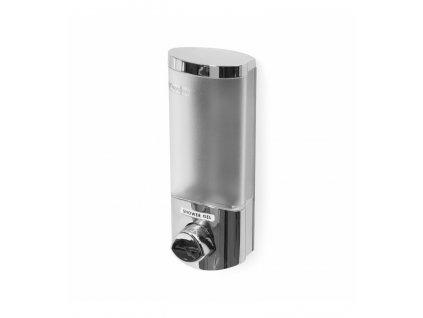 Dávkovač Compactor Uno mýdla / šampónu na zeď, chrom plast, 360 ml, RAN6014