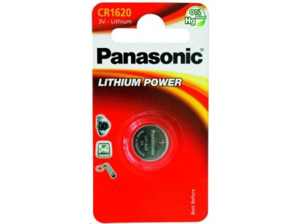 PANASONIC Lithiová baterie (knoflíková) CR-1620EL/1B 3V (Blistr 1ks)