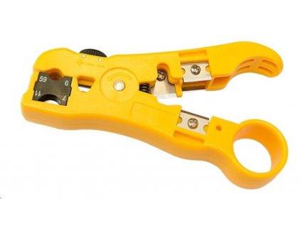 Stripovací nástroj UTP/STP, RG59/6, RG11/7, ploché tel. kabely