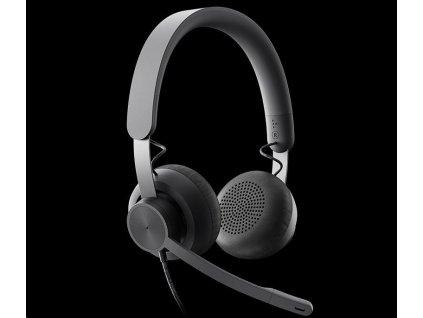 Logitech sluchátka s mikrofonem Zone Wired Headset Graphite - EMEA