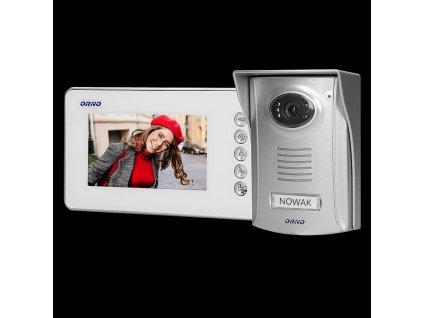 "ORNO Sada handsfree video interkom, 4,3 ""barevný LCD displej s kamerou"
