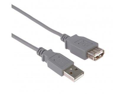 PremiumCord USB 2.0 kabel prodlužovací, A-A, 5m