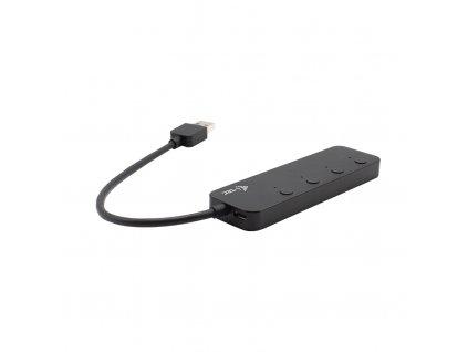 i-tec USB 3.0 Metal HUB 4 Port s vypínači na jednotlivých portech