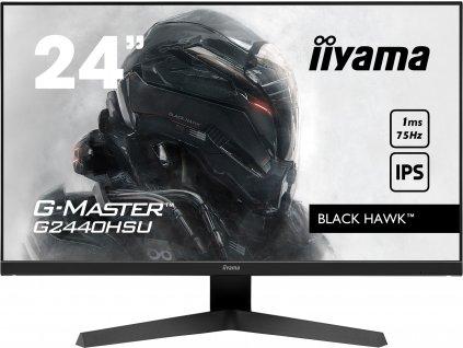 24'' iiyama G-Master G2440HSU-B1: IPS, FullHD@75Hz, 1ms, HDMI, DP, USB, FreeSync, černý