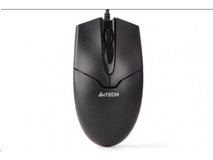 A4tech OP-550NU, myš, 2click, 1 kolečko, 3 tlačítka, USB, černá