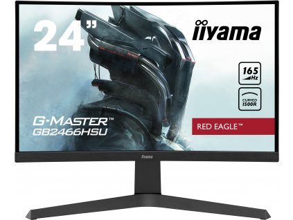 24'' iiyama G-Master GB2466HSU-B1: VA, FullHD@165Hz, 1ms, HDMI, DP, USB, FreeSync, zakřivený, height