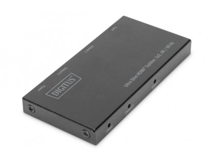 Digitus Ultra tenký HDMI Rozbočovač, 1x2, 4K / 60Hz HDR, HDCP 2.2, 18 Gbps, Micro USB napájeno