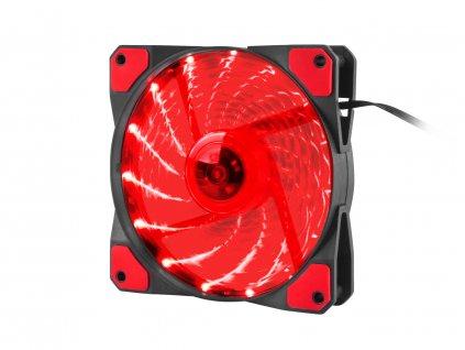 Ventilátor Genesis Hydrion 120, červené LED, 120mm