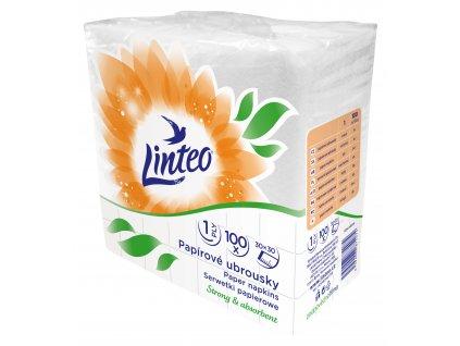 Ubrousky Linteo papírové, 30x30 cm bílé, 1-vrstvé, 100 ks