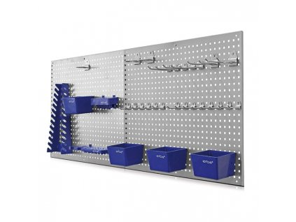 Děrovaná stěna 55,8x45,8x0,8 cm, 2 ks, s příslušenstvím ERBA ER-06601