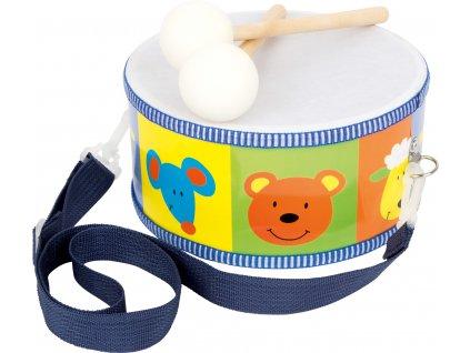 Hračka Small Foot Dětský dřevěný buben Zvířata