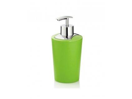Dávkovač mýdla MARTA plastik zelená H 17cm / Ř 8cm / 350 KELA KL-24172