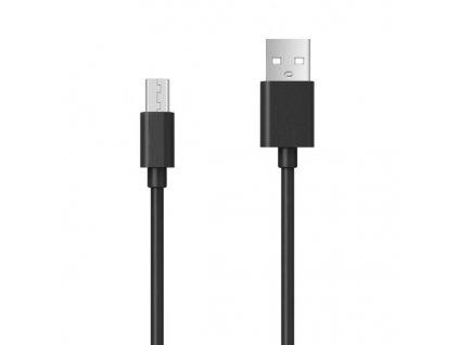 Aligator Datový kabel s prodlouženým microUSB konektorem, 2A, černý