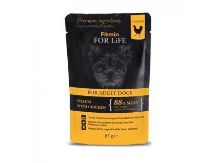 Fitmin FFL dog pouch adult chic./ham 85g