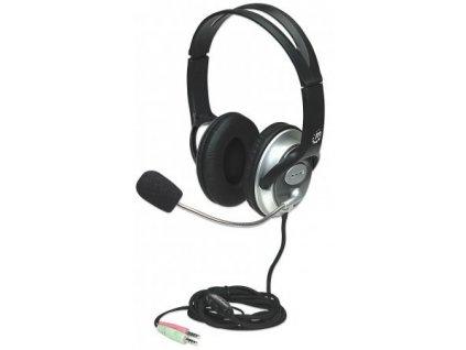 MANHATTAN Sluchátka s mikrofonem Classic Stereo Headset