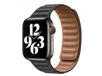 COTEetCI Double Suction kožený pásek pro Apple Watch 38 / 40mm černá