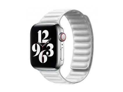 COTEetCI Double Suction kožený pásek pro Apple Watch 42 / 44mm bílá