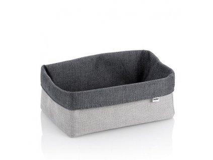 Košík úložný do koupelny PALMA 23x15x10cm šedá