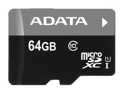 ADATA 64GB MicroSDXC Premier,class10 with Adapter