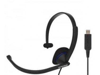 KOSS sluchátka CS195 , sluchátka s mikrofonem, bez kódu, USB, černá