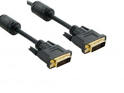 4World Kabel DVI-D 24+1M-24+1M 1.8m Black