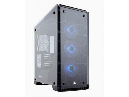 CORSAIR Crystal Series 570X RGB ATX Mid-Tower Case Black ATX PC Case černý bez zdroje, průhledná bočnice