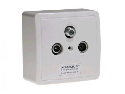Zásuvka Maximum MX 600 TV/R/SAT - koncová