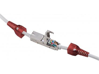 PremiumCord Beznástrojový propojovací box pro kabely Cat.6, stíněný