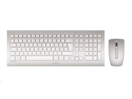 CHERRY set klávesnice + myš DW 8000, bezdrátová, EU, stříbrno-bílá