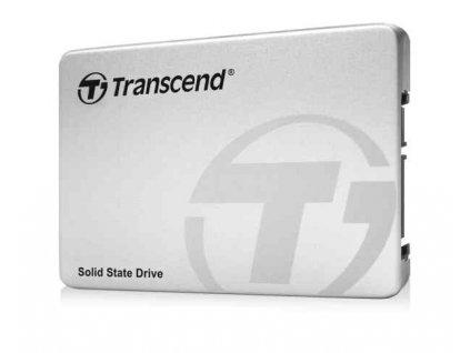 TRANSCEND SSD220S 480GB SSD disk 2.5'' SATA III 6Gb/s, TLC, Aluminium casing, 530MB/s R, 480MB/s W, stříbrný