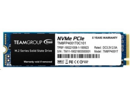 Team SSD M.2 1TB (R:3400, W:2900), MP34 PCIe Gen3.0 x4 NVMe 1.3