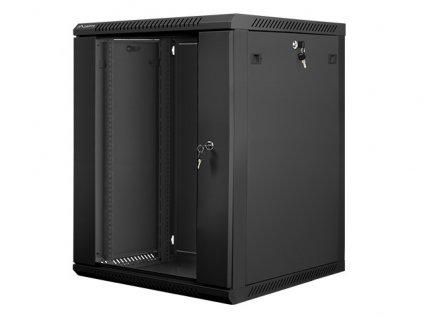 Nástěnný rack 19' 15U 600X600mm černý flat pack