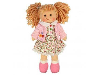 Panenka Bigjigs Toys látková Poppy, 28 cm