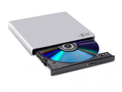 HITACHI LG - externí mechanika DVD-W/CD-RW/DVD±R/±RW/RAM GP57ES40, Slim, Silver, box+SW