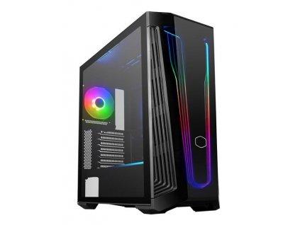 Cooler Master case MasterBox 540, Mid Tower, ATX, USB3.2, USB-C, bez zdroje, průhledná bočnice, černá