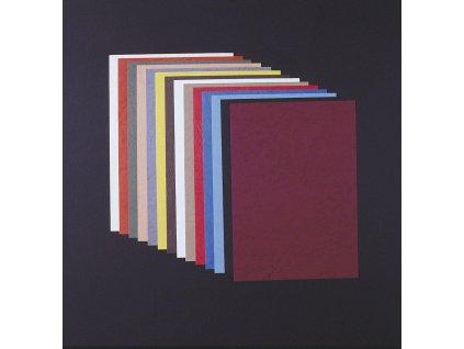 Vázací kryt kartonový Delta A4, 100ks, imitace kůže, černý