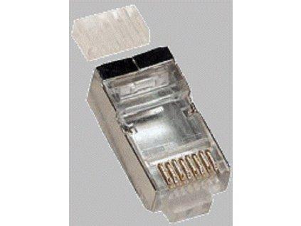Konektor RJ45 FTP 8p8c, Cat 6, drát, skládaný