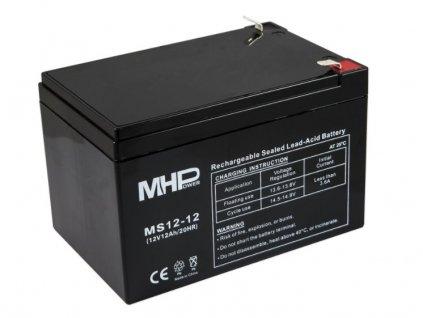Baterie MHPower MS12-12 VRLA AGM 12V/12Ah náhrada za RBC4