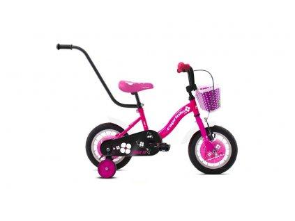 """Dětské jízdní kolo Capriolo BMX 12""""HT VIOLA pink -white-glossy"""