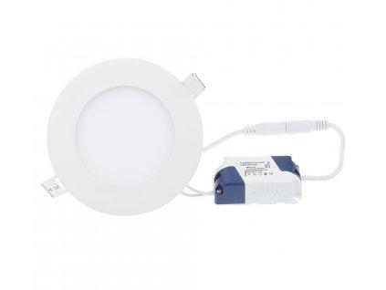 LED panel KRUHOVÝ BRGD0099 vestavný - 120x120x12mm - 6W - 230V - 390Lm - studená bílá