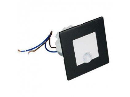 DPM Schodišťové orientační svítidlo s PIR čidlem, 4000K čtverec, černá