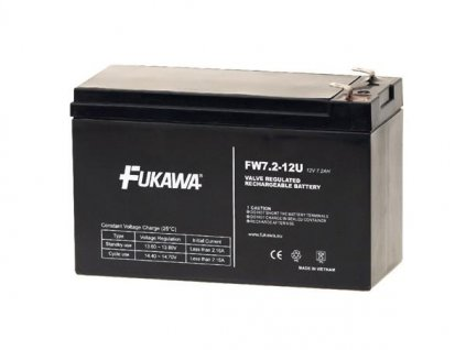 akumulátor FUKAWA FW 7,2-12 F2U (12V; 7,2Ah; faston F2-6,3mm; životnost 5let)