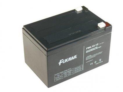 akumulátor FUKAWA FW 12-12 (12V; 12Ah; faston 6,3mm; životnost 5et)