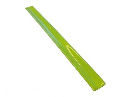 Reflexní samonavíjecí pásek žlutý