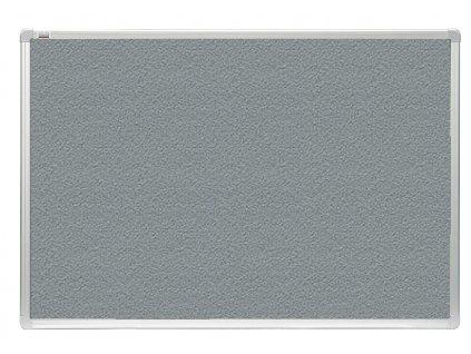 Tabule 2x3 filcová officeBoard 120 x 90 cm s hliníkovým rámem, šedá