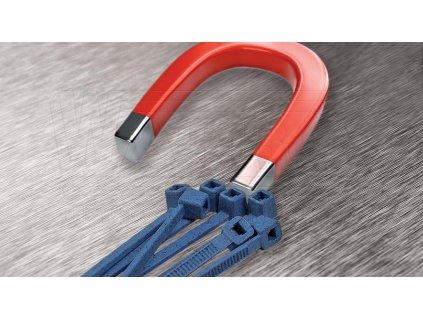 WAPRO Pásek vázací 280x4,5 detekovatelný modrá (100ks)